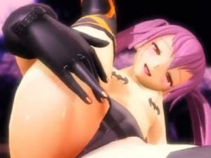 【3Dエロアニメ】 ちっぱいツインテ少女なクイーンズゲイトのアリスのオマンコ強調擬似セックスエロダンス