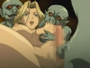 【エロアニメ】 ゴブリンたちに輪姦されて勃起したデカクリトリスをシゴカれて母乳噴き出し潮吹きイキするヴァルキリー