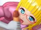 【3Dエロアニメ】 入院生活中の眠れない夜に金髪メガネっ娘ナースがやってきて手袋手コキフェラに本番中出しセックスのエッチな看護してくれるw