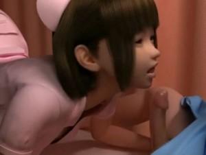 【3Dエロアニメ】 入院患者の男の子に生ハメセックスでオチンポ看護しちゃう巨乳美少女ナース