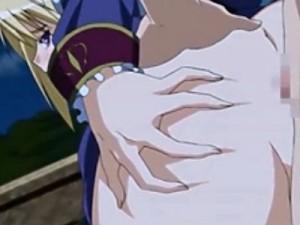 【エロアニメ】 金髪姫騎士とのイチャラブ野外アナルセックス