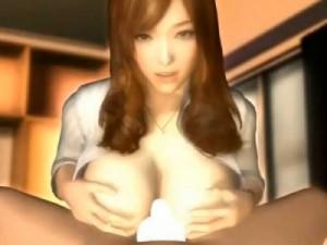 【3Dエロアニメ】 美少女とのラブラブ恋人セックス&エッチな美人先生に手取り足取り優しくセックス教えてもらう