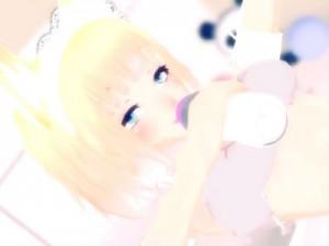 【3Dエロアニメ】 オムツ履いた猫耳少女が哺乳瓶吸いながら赤ちゃんプレイ電マオナニーしてオシッコお漏らしイキw