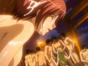 【エロアニメ】 輪姦祭りで男たちに好き放題犯されちゃう美人母娘姉妹