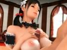 【3Dエロアニメ】 巨乳美少女メイドのパイズリフェラご奉仕でおっぱい中出し乳内射精