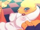 【エロアニメ】【ケモナー向けにつき閲覧注意】 デジモンのレナモンが少年チンポ強引にハメられて中出しされたりキュウビモンが超デカチンポで種付け中出しされてイカされるw