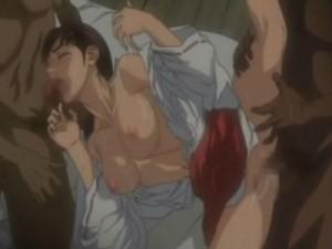【エロアニメ】 母を犯した借金取りのオッサンたちに犯されて嫌なのに感じて快楽堕ちしちゃう美少女巫女さん