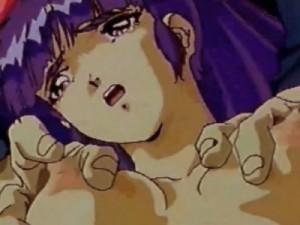 【エロアニメ】 仲間を助けるために不良男たちの愛撫責めに耐える美少女