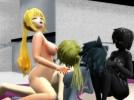 【3Dエロアニメ】 獣耳娘&人外娘&金髪ポニテ美少女とハーレムセックスする美少年