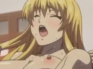 【エロアニメ】 母と妹の目の前で義兄に犯され中出しされちゃう金髪巨乳義妹
