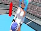 【3Dエロアニメ】 高身長褐色猫耳少女に股間押し付けオマンコアタックされてKOされるw
