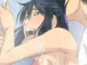 【エロアニメ】 競泳水着姿に興奮した彼氏のガチガチチンポでオマンコ突かれながらのクリトリス同時責め中出しで絶頂する巨乳美少女