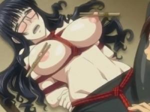 【エロアニメ】 生徒に緊縛拘束されて言葉責め&乳首責めでオマンコ濡らしちゃうドM巨乳女教師