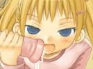 【エロアニメ】 金髪ツインテちっぱい美少女が机の下からオナニーサポートw手コキ&オナホコキ&フェラチオしてくれてキツキツオマンコとアナルに中出しもさせてくれるw