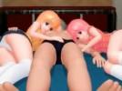 【3Dエロアニメ】 双子の美少女姉妹にたっぷりご奉仕してもらう3Pセックスで中出ししてWフェラでオチンポお掃除
