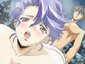 【エロアニメ】 入浴中の若い男性客に手を出した淫乱熟女女将が主導権奪われて強引にアナル処女奪われちゃうw
