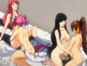【エロアニメ】 攻略した4人の美少女教師&教え子を全員イカせるハーレム5Pセックス