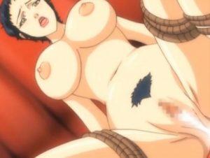 【エロアニメ】 ハゲジジイにSMプレイで調教されて自分からオチンポ挿入しアナルも犯される巨乳熟女