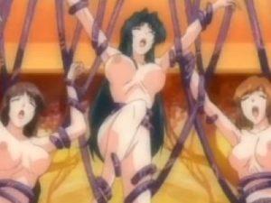 【エロアニメ】 学園中に大量発生した触手に襲われ犯される女生徒たち