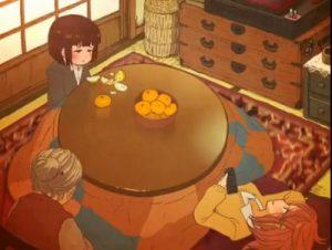 【エロアニメ】 コタツの中でオマンコ電気あんま百合レズプレイしてイカせ合う少女たち