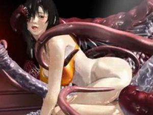 【3Dエロアニメ】 関西弁黒髪美少女が触手に犯され快楽堕ちして触手チンポにパイズリご奉仕w