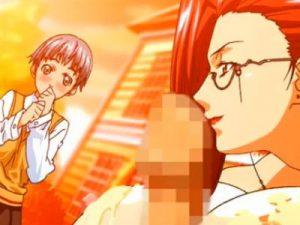 【エロアニメ】 貧乳彼女の目の前で爆乳痴女教師にパイズリされて射精しちゃう男子生徒