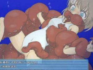 【エロアニメ】 水中でタコ触手やスライムや半魚人に異種姦レイプされまくる白スク水美少女