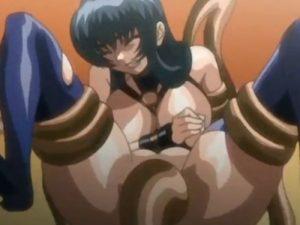 【エロアニメ】 怪物の触手チンポで中出しレイプされてアヘ顔で感じる巨乳美女