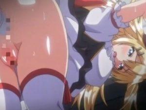 【エロアニメ】 金髪ツンデレ魔法少女アイドルをアナルバイブ調教w潮吹いてバイブ落としたお仕置きに処女アナルに中出しセックスw