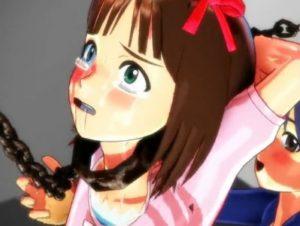 【3Dエロアニメ】 アイマスの天海春香が拘束くすぐり拷問レズプレイされてレイプ目&ハート目で悶えまくるw