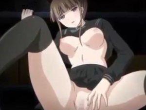 【エロアニメ】 看病してくれてた黒セーラー服美少女のパンチラ後ろ姿見てたらムラムラして後背位中出しアヘ顔セックス