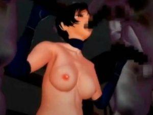 【3Dエロアニメ】 怪人たちにオマンコとアナル二穴同時挿入輪姦レイプされる美少女