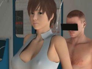 【3Dエロアニメ】 何しても無反応なノーブラ巨乳美女にオチンポ突っ込み中出し痴漢w