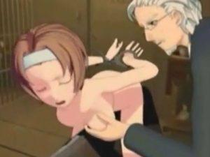 【3Dエロアニメ】 変態老紳士に三角木馬で調教されたりお風呂で対面座位セックスされちゃうお嬢様