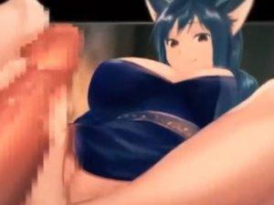 【エロアニメ】 猫耳爆乳美少女に足コキ、顔面騎乗放尿プレイにアナル舐めパイズリしてもらう中出しセックス