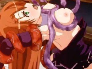 【エロアニメ】 パワーアップのためのセックス拒否した女勇者が使い魔触手に無理やり犯され処女膜破られちゃうw