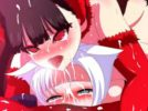 【エロアニメ】 黒髪猫耳美少女のふたなりデカチンポで犯されちゃう白髪猫耳美少女