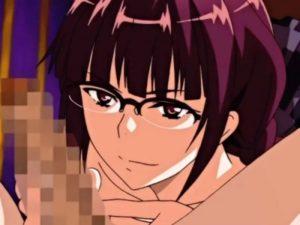 【エロアニメ】 クスリのせいで身動きできないところをメガネっ娘先輩に襲われ包茎童貞チンポにパイズリされて童貞卒業逆レイプ中出しセックス
