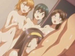 【エロアニメ】 キモデブ男子が催眠かけた後輩女子たち集めて立て続けに処女膜貫通する性指導セックス