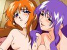 【エロアニメ】 人妻の両手縛って中出ししたりちっぱい美少女にフェラさせて母娘丼3pセックス