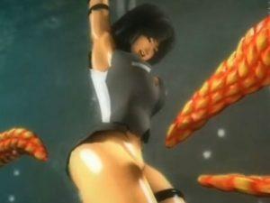 【3Dエロアニメ】 敵に捕まって連日の触手拷問責めで陵辱される美少女戦士