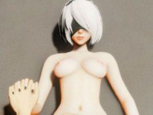 【3Dエロアニメ】 ニーア オートマタの2Bと手つなぎラブラブ中出しセックス
