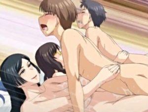 【エロアニメ】 童貞少年たちが巨乳熟女たちに逆ナンされて童貞卒業即ハメ中出しセックス