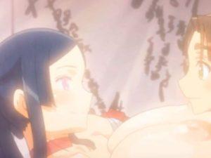 【エロアニメ】 爆乳美女の疲れを癒やすためにマッサージしてあげたらエッチな流れになってイチャラブ中出しセックス