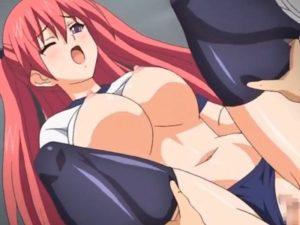 【エロアニメ】 ブルマニーソなツンデレ美少女と体育倉庫で中出しセックス